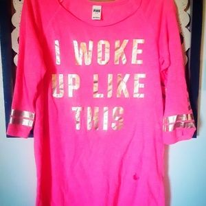PINK VS Sleep shirt Med.